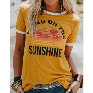 New Bring on the Sunshine graphic tee shirt